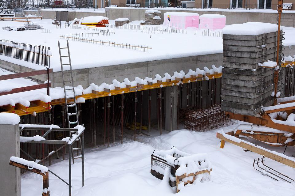 Winter work scene